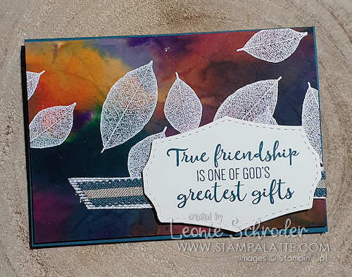 Scattered Leaves with the Cling Sprinkles Technique by Leonie Schroder Independent Stampin' Up! Demonstrator Australia