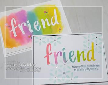 Sprinkles Friend 2 for 1 using Pigment Sprinkles and Handwritten Prose Dies by Leonie Schroder Independent Stampin' Up! Demonstrator Australia