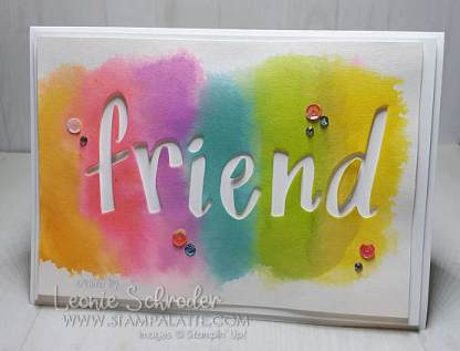 Sprinkles Friend 2 for 1 using Pigment Sprinkles and Handwritten Prose Dies by Leonie Schroder Independent Stampin' Up! Demonstrator Australia