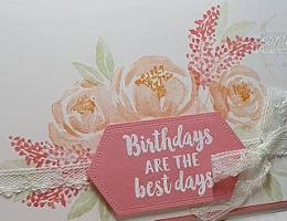 make Beautiful Blossoms with the Beautiful Friendship Stamp Set by Leonie Schroder Independent Stampin' Up! Demonstrator Australia