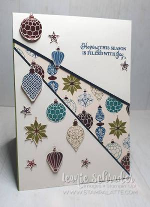 Brightly Gleaming Recessed Panel Christmas Card by Leonie Schroder Independent Stampin' Up! Demonstrator Australia