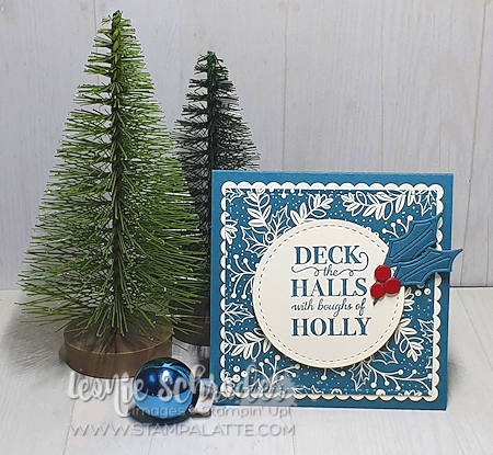 Brightly Gleaming Holly Card from my Christmas Box by Leonie Schroder Independent Stampin' Up! Demonstrator Australia