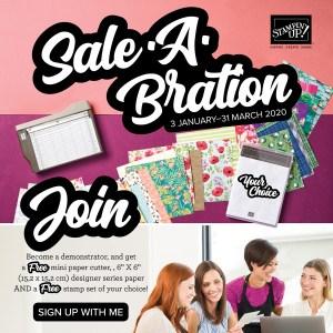 Join during Saleabration with Leonie Schroder Independent Stampin' Up! Demonstrator Australia