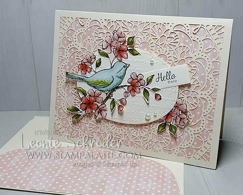 Hello There Friend using Bird Ballad Designer Series Paper and Laser Cut Cards by Leonie Schroder Independent Stampin' Up! Demonstrator Australia