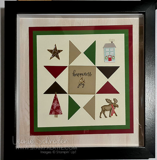 Quilted Shape Sampler using Stitched Triangles by Leonie Schroder Independent Stampin' Up! Demonstrator Australia