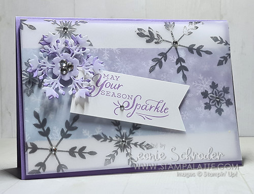 Snowflake Splendor with Vellum by Leonie Schroder Independent Stampin' Up! Demonstrator Australia