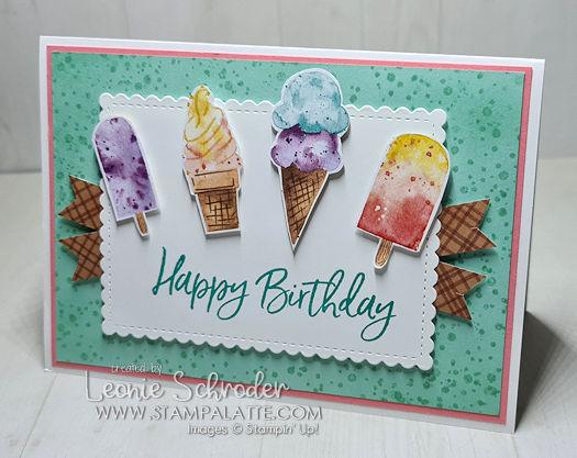 Birthday Cones using Ice Cream Corner Suite by Leonie Schroder Independent Stampin' Up! Demonstrator Australia