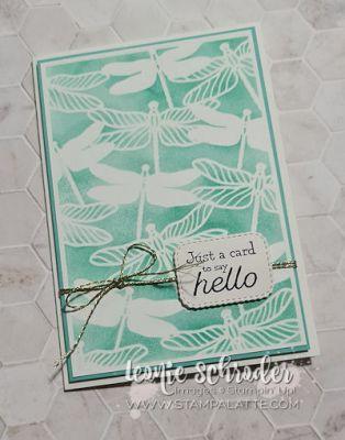 Hello Dragonfly Notecard by Leonie Schroder Independent Stampin' Up! Demonstrator Australia