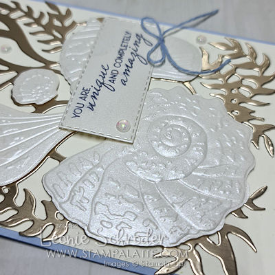 Shimmer Shells using Friends are Like Sea Shells suite created by Leonie Schroder Independent Stampin Up Demonstrator Australia