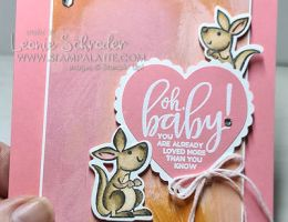 Oh Baby Card using Kangaroo & Company by Leonie Schroder Independent Stampin' Up! Demonstrator Australia