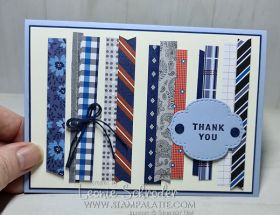 Strip Card using Well Suited DSP for Freshly Brewed Sketch 121 by Leonie Schroder Independent Stampin Up Demonstrator Australia