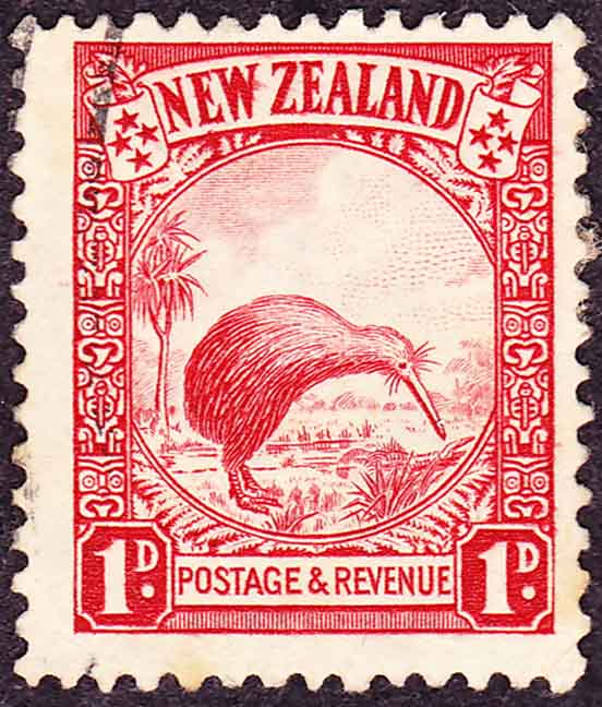 New Zealand kiwi postage stamp