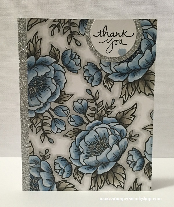 Thank you Materials used: Stamps - Birthday Blooms, Endless Thanks (Stampin' Up!), Dies - Layering Circle Framelits (Stampin' Up!), Copic Markers and Wink of Stella.