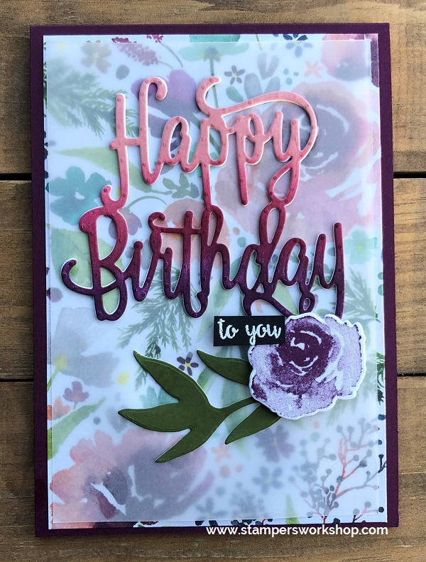 Happy Birthday to you - Stampers Workshop