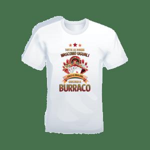 "T-shirt Bianca 100% cotone ""Burraco"""