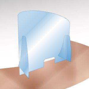 Barriera parafiato in Plexi o Policarbonato trasparente 3-5mm