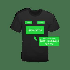 T-shirt nera neutra con o senza personalizzazione