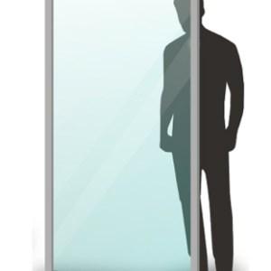 Parete divisoria 200X100cm in plexiglass