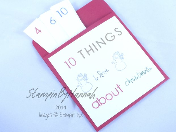 Stampin' Up! UK Christmas Wishes Pocket