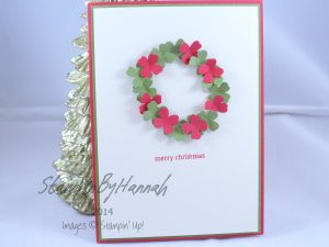 Stampin' Up! UK DIY Wreath Christmas
