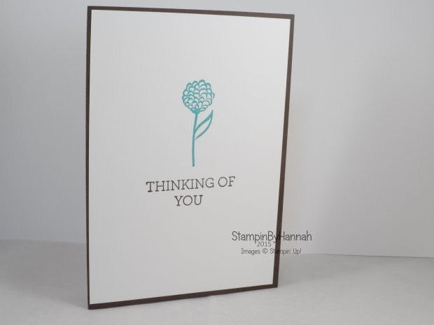 Stampin' Up! UK Natures Perfection Thinking of you