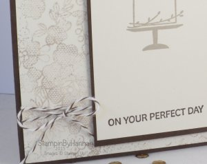 Stampin' Up! UK Your Perfect Day Something Lacy Wedding Card
