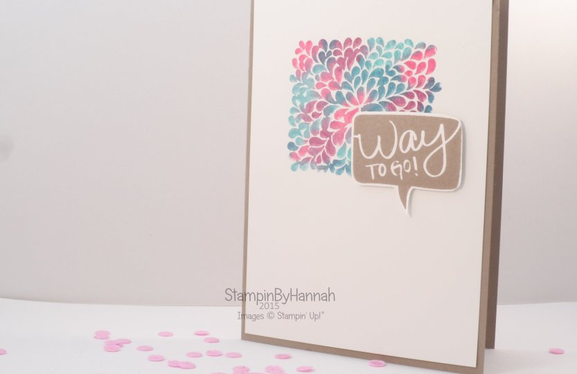 Stampin' Up! UK Watercolour stamping markers I think you're great