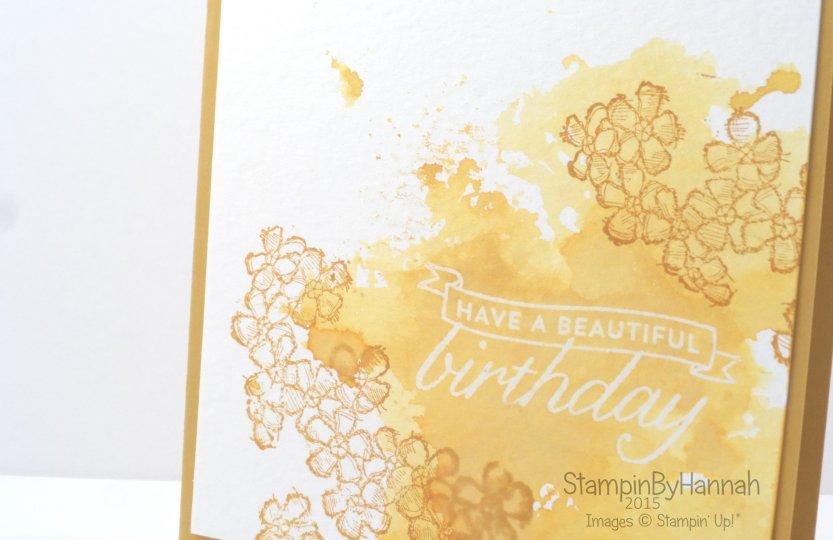 Stampin' Up! UK birthday blossoms