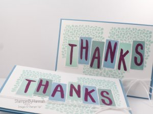 Stampin' Up! UK Layered Letters Alphabet