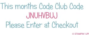Stampin' Up! UK Hostess Code Club