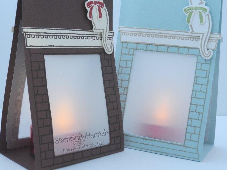 Stampin' Up! UK Festive Fireplace Tealights