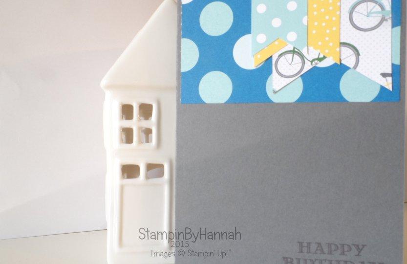 Stampin' Up! UK SchoolHouse Designer Series Paper Sketch Challenge Boys Birthday card