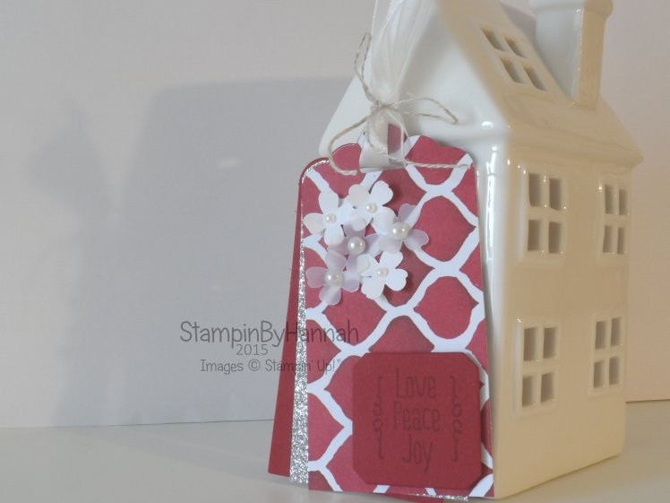 Stampin' Up! UK Christmas tag