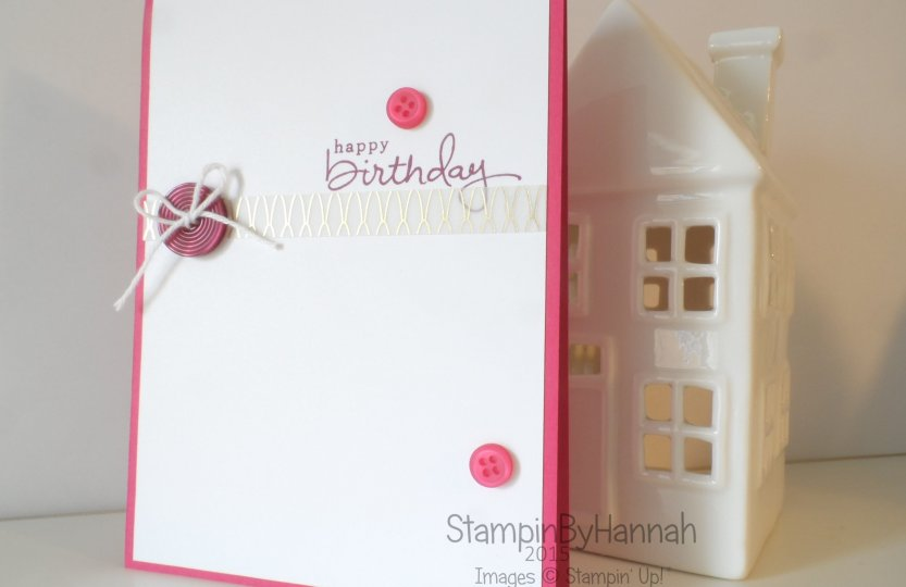 Stampin' Up! Endless Birthday Wishes Buttons and Vellum