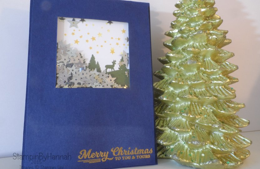 Stampin' Up! UK Shaker Card To You and Yours