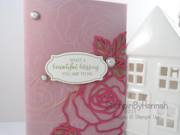 Stampin' Up! UK Rose Wonder Blog Hop