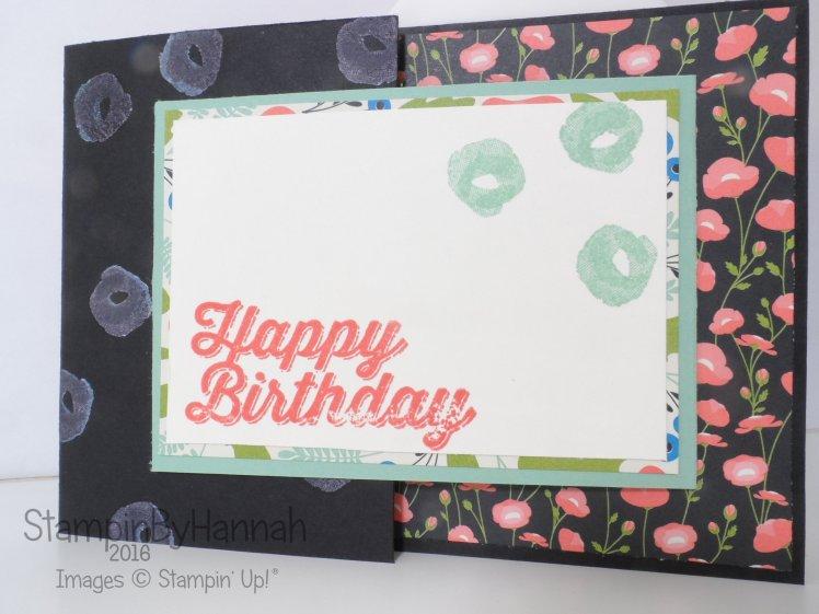 Stampin' Up! UK Freshly Made Sketches 219 Joy Fold Card