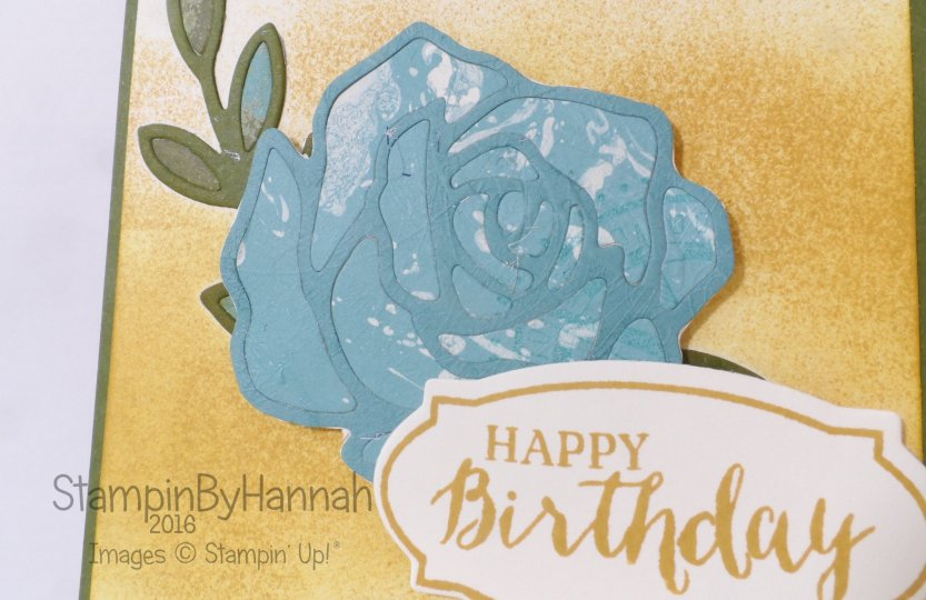 Stampin' Up! UK Rose wonder birthday card