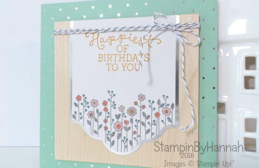 Stampin' Up! UK Cottage greetings Birthday Blooms