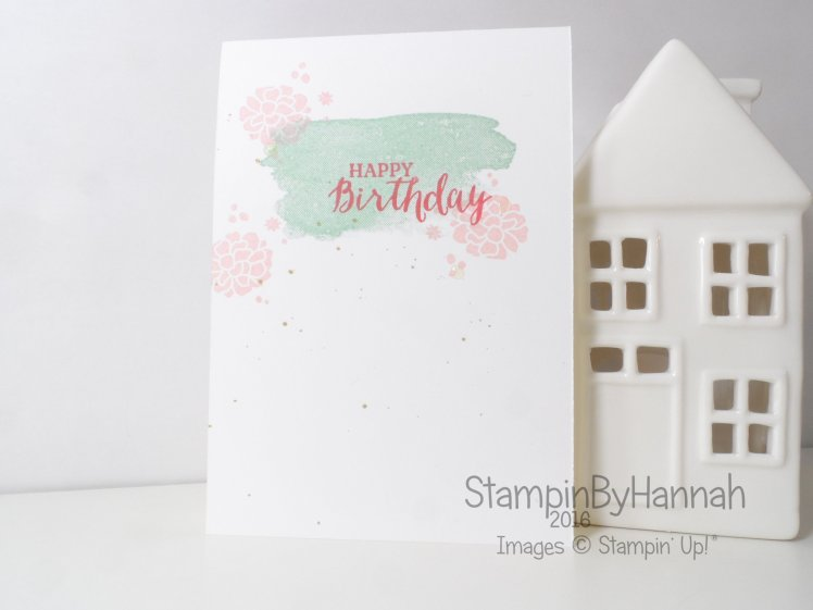 Stampin' Up! UK One Layer Birthday Card