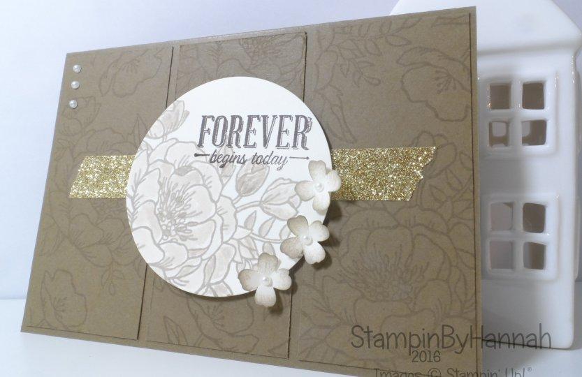 Stampin' Up! UK Birthday Blooms Suite Sayings Wedding Card