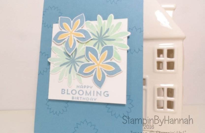 Gift Card Holder video tutorial featuring Flower Patch from Stampin' Up! UK