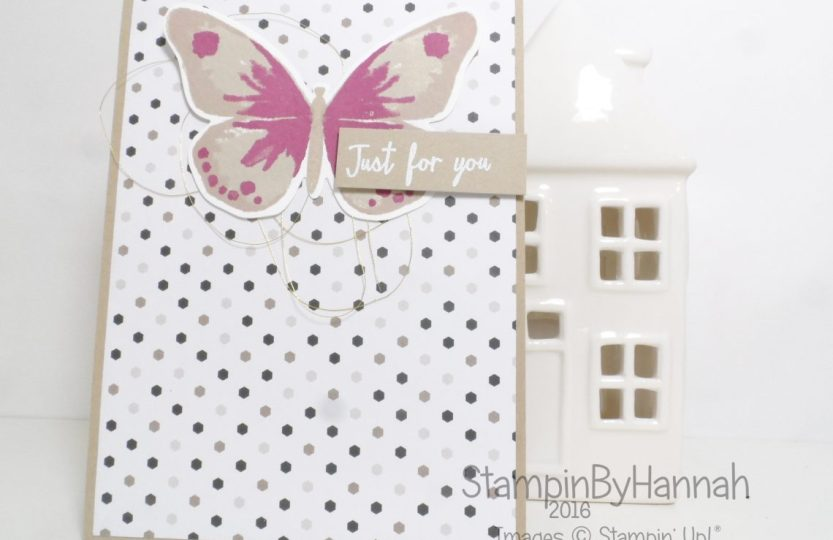 Watercolour Wings Card using Stampin' up! Uk products