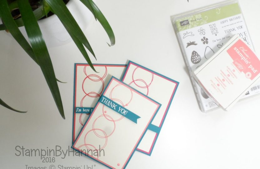 Fresh Fruit Card Collection using Stampin' Up! Uk products