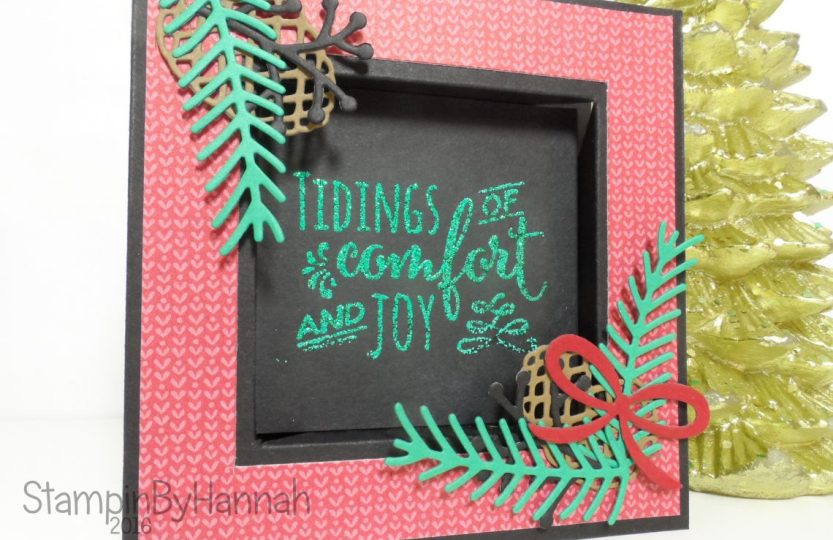 Pinkies Team Blog Hop using Christmas Pines from Stampin' Up! UK