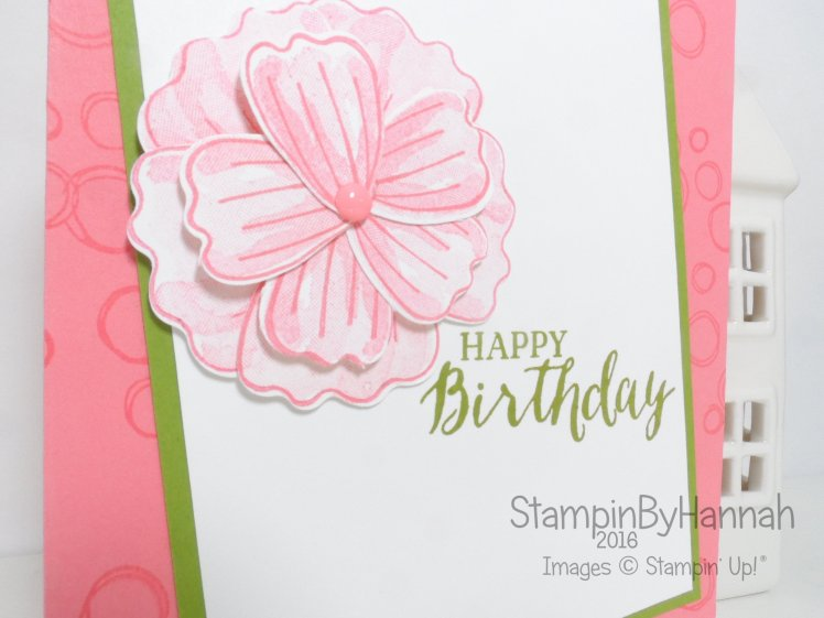 Bunch of Blossoms Birthday Card using Playful Backgrounds from Stampin' Up! UK