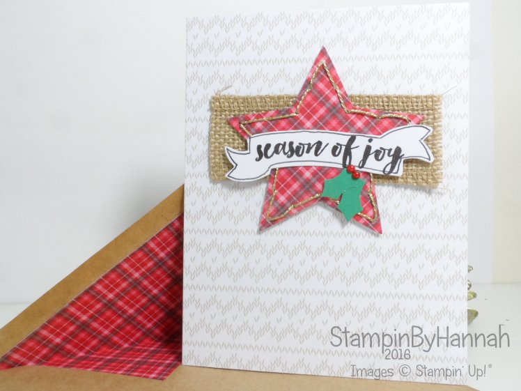 Super Easy Christmas Card using the Stitched with Cheer Project Kit from Stampin' Up! UK