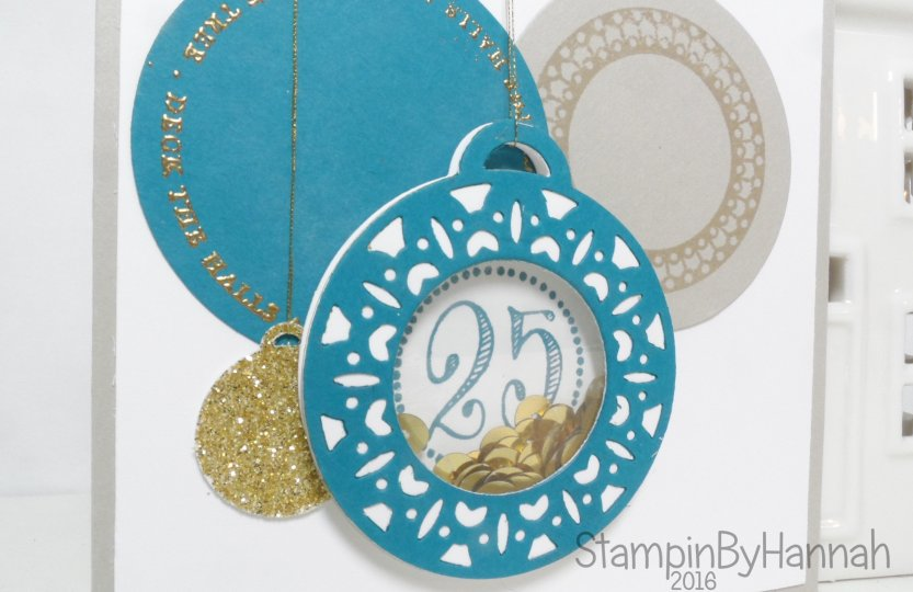 Cute Christmas Card using Merriest Wishes from Stampin' Up! UK