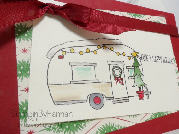 Pootles Design Team Christmas Card using Glamper Greetings from Stampin' Up! UK