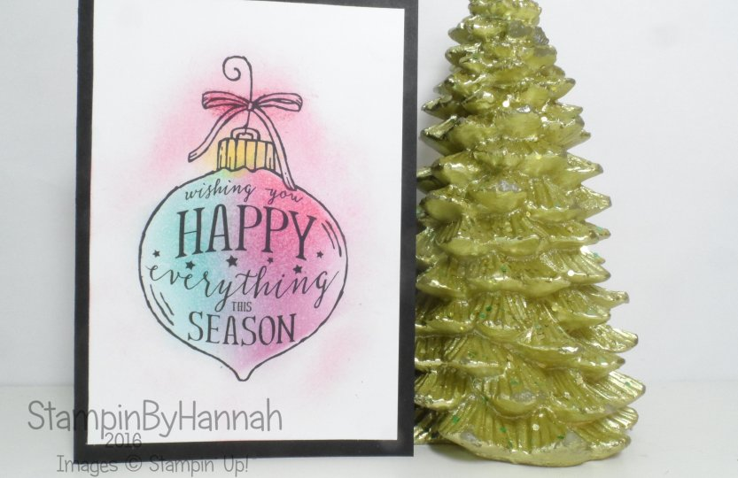 Simple Christmas Card using Happy Ornament from Stampin' Up! UK